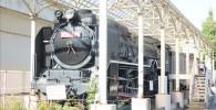 交通遊園に展示されているD51蒸気機関車