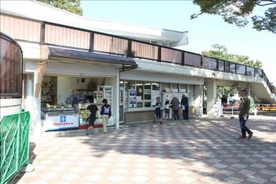 郷土の森公園の売店とチケット売り場