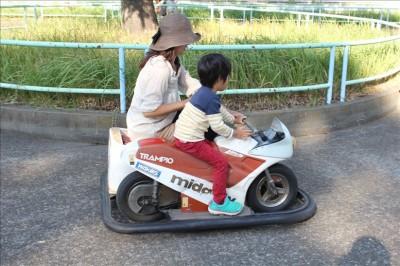 100円で乗れるバイクの乗り物