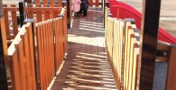 大型アスレチックの斜めの通路