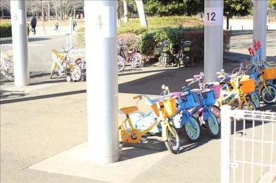 補助輪付きレンタル自転車