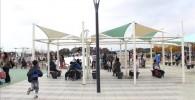 わんぽく広場の集合ベンチ