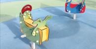 様々な幼児向けスプリング遊具