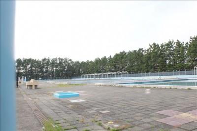 公園内のプールの様子