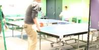 卓球ができるコーナー