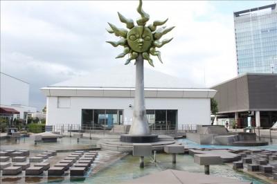 太陽の広場の噴水