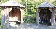 かわいいログハウスの休憩所(ズーラシア)