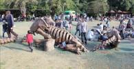 恐竜の骨のオブジェの様な遊具