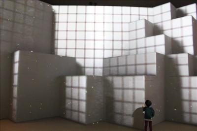 立体型の巨大スクリーン