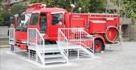 ガラクタ公園の消防車