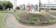 萩中公園のサイクリングコース(牧場)
