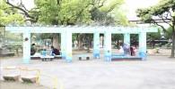 萩中公園のベンチ