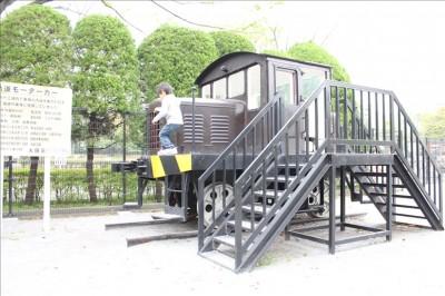 ガラクタ公園の軌道モーターカー