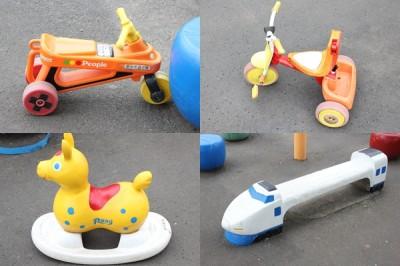 三輪車や幼児用の乗り物