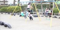 タイヤ公園のブランコ
