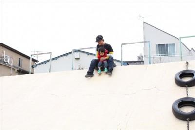 タイヤ公園大山滑り台