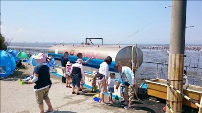 砂抜き用海水タンク