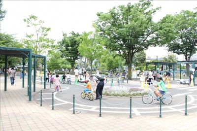 自転車コースの道路