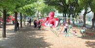北鹿浜公園の遊具広場