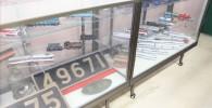 電車の模型などの展示コーナー