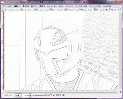 GIMPで塗り絵完成