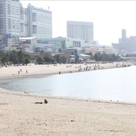 お台場海浜公園の砂浜