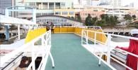 東京クルーズ船の屋上