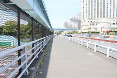 潮風公園前の道路と歩道
