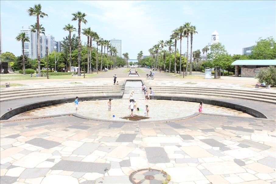 「都立潮風公園 噴水広場」の画像検索結果