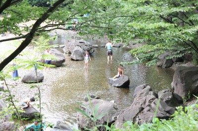 四季の森公園のじゃぶじゃぶ池