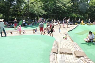 中原平和公園の水辺の広場