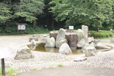 三つ池公園の噴水広場