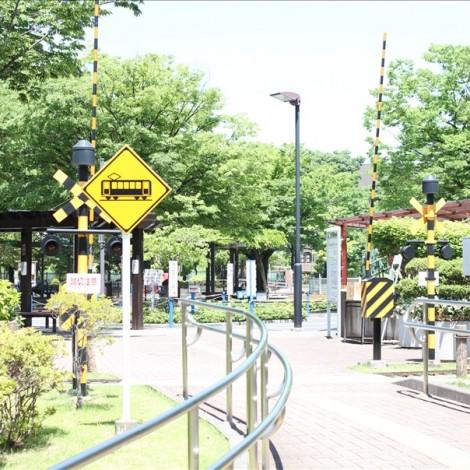 大谷田南公園駐車場横の入り口