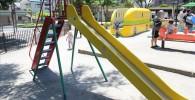 遊具広場のすべり台