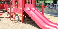 消防車のすべり台