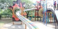 綾南公園のローラーすべり台