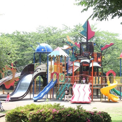 綾南公園の新しい大型複合遊具
