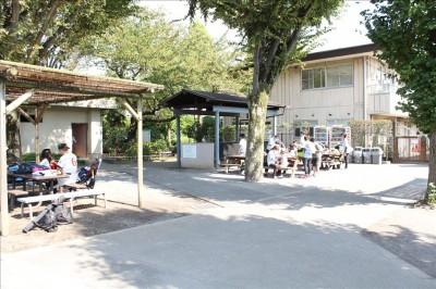 公園内のデイキャンプ施設