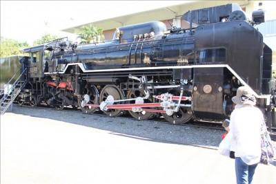 展示されている蒸気機関車