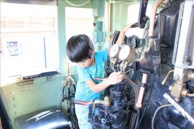 蒸気機関車の運転席の体験