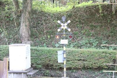 ミニ鉄道のミニ踏切