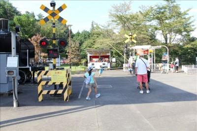 青梅鉄道公園の踏切