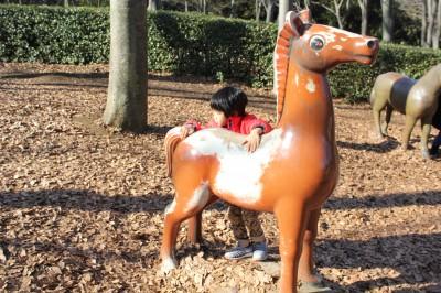 根岸森林公園 馬の遊具