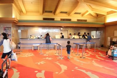 龍宮城スパホテル三日月 フロント