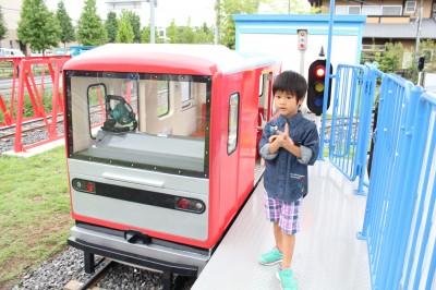 ららぽーと富士見 ミニ鉄道前でパチリ