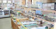 色々な電車の模型の展示