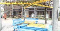 動物コーナーのベンチ