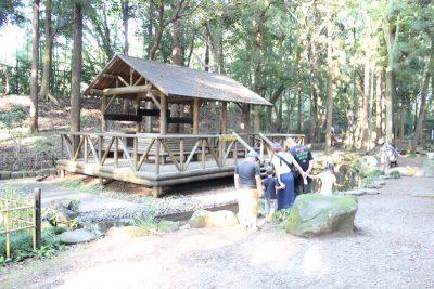 親水広場の小屋
